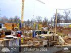 Ход строительства дома Литер 1 в ЖК Грин Парк - фото 5, Март 2021