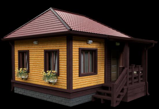 Тип 1, 48 м² 48 м² 48, КП Красный сад - планировка