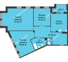 3 комнатная квартира 147,74 м², Дом премиум-класса Коллекция - планировка