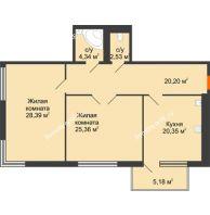 Студия 105,05 м², Жилой дом на ул. Платонова, 9,11 - планировка