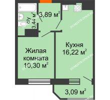 1 комнатная квартира 36,94 м² в ЖК Город времени, дом № 18