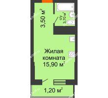 Студия 24,3 м², ЖК Клубный дом на Мечникова - планировка
