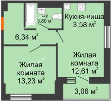 1 комнатная квартира 41,6 м² - ЖК Олимпийский