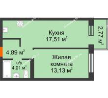 1 комнатная квартира 38,44 м² в OK Salut (Салют), дом ГП-6 - планировка