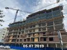 Ход строительства дома Литер 2 в ЖК Династия - фото 33, Июль 2019