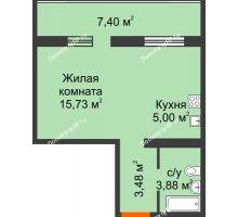 1 комнатная квартира 30,33 м² в ЖК Квартал №6 (Восточный), дом Литер 25 - планировка