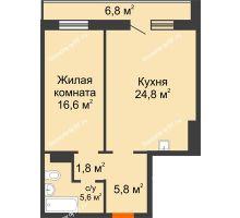 2 комнатная квартира 58 м² в ЖК Лесной массив, дом Строение 9 - планировка