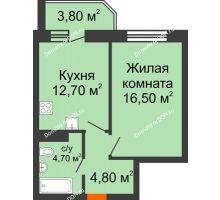 1 комнатная квартира 42,5 м² в ЖК Звездный, дом № 6
