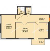 Студия 104,45 м², Жилой дом на ул. Платонова, 9,11 - планировка