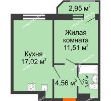 1 комнатная квартира 39,67 м² в ЖК Город времени, дом № 18