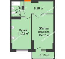 1 комнатная квартира 41,4 м², ЖК Орбита - планировка