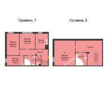 4 комнатная квартира 147,4 м², Клубный дом Green Вита (Грин Вита) - планировка