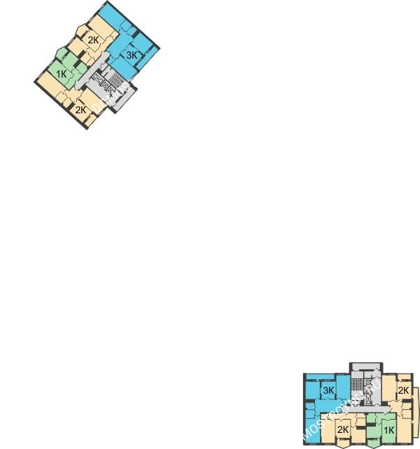Планировка 23 этажа в доме № 89, корп. 3 в ЖК Монолит